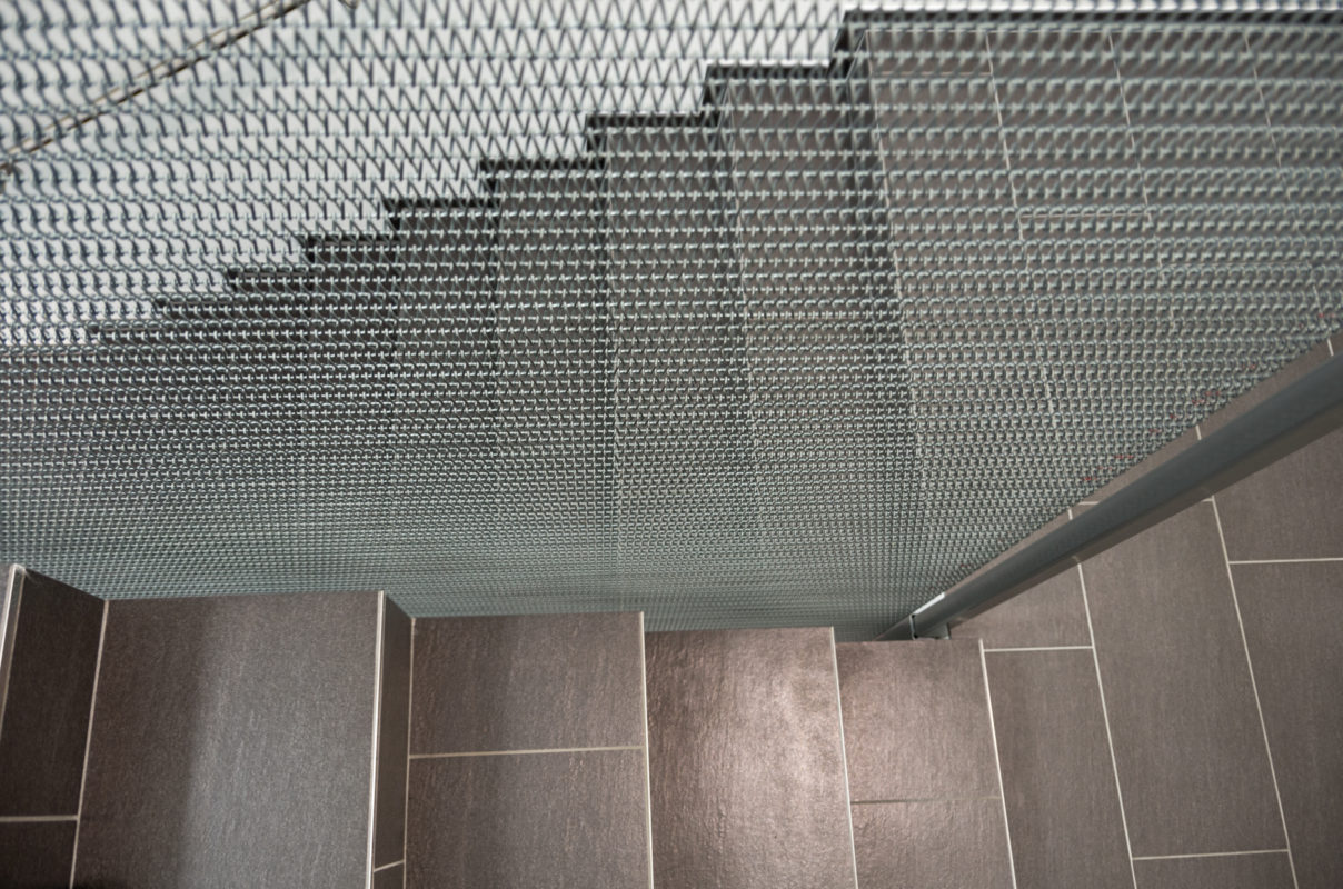 Treppenabtrennung Edelstahl